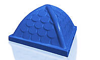 Крыша пластиковая Укркомпозит 900х900 синяя