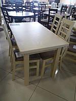 Стол обеденный КЛАССИК 110(+30) бежевый
