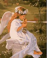 """Картина раскраска по номерам """"Маленький ангел"""" набор для рисования"""
