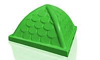 Крыша пластиковая Укркомпозит 900х900 зеленая