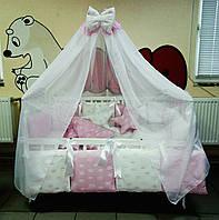 Детское постельное белье Bonna Elite Бело-розовые короны