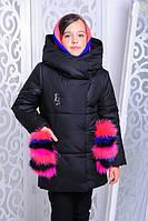 Красивая куртка, пальто зима для девочки 34 размер.Детская верхняя зимняя одежда!