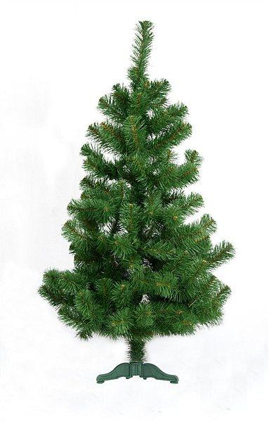 Искусственная елка (ель) 1,3 метра, ПВХ-Италия, пушистый ствол на подставке