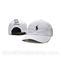 Кепка бейсболка Polo Ralph Lauren (кож. ремешок) белая