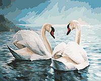 """Картины по номерам """"Лебединая верность"""" 40х50см, Без Коробки"""