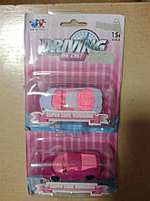 """Машина металева """"Driving"""" для дівчаток на планшетці  XY090"""