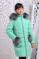 Красивая куртка, пальто зима для девочки 32, 34 размер.Детская верхняя зимняя одежда!