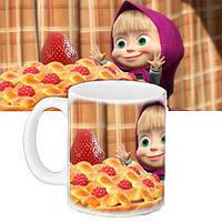 Детская чашка с принтом Маша и Медведь