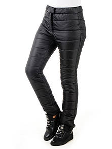 Женские теплые брюки плащевка Irvik H730T черный