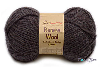 Fibranatura Renew Wooll, №108 коричневый меланж