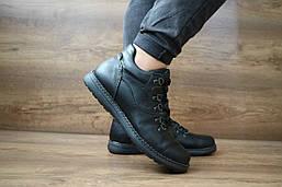 Мужские зимние ботинки Clarks (черные), ТОП-реплика