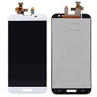 Дисплей (экран) для LG G2 D800, D801, D803, D808, E940, F320, LS980, VS980 + тачскрин, белый, оригинал, 34 pin