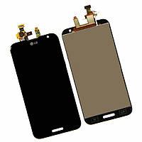 Дисплей (экран) для LG G2 D800, D801, D803, D808, E940, F320, LS980, VS980 + тачскрин,черный,оригинал,34 pin