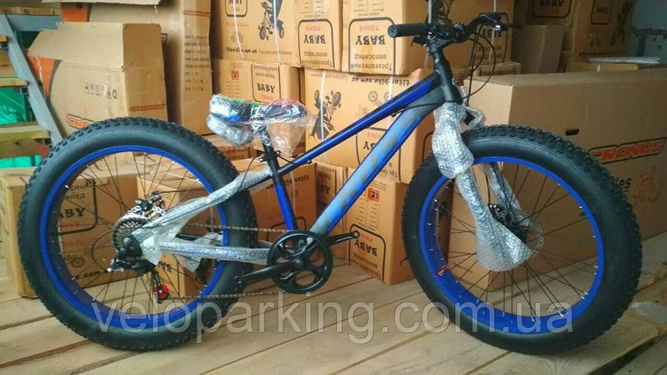 Велосипед внедорожник фэтбайк Cross Tank 24 (fatbike) 2018 All