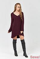 Женское вязаное платье оверсайз Марсала, фото 1