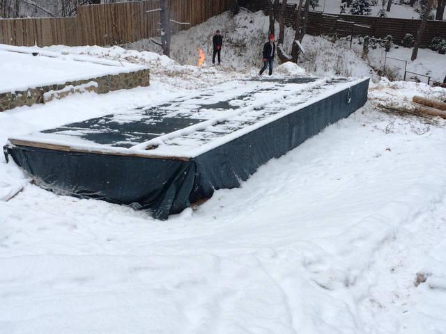 Плавательный внешний бассейн с. Гореничи 12