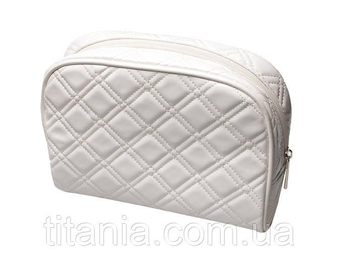 Косметичка біла глянцева TITANIA 7762