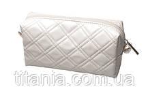 Косметичка белая глянцевая TITANIA 7763