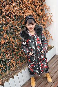 Зимний пуховик для девочки размер 120-160