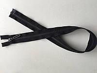 Застежка молния RIRI 6 метал полированная зубья ст.серебро темное 65 см брелок Golf тесьма черная разъемная