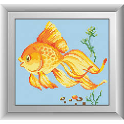 Алмазная живопись квадратными камнями Золотая рыбка Dream Art 30520 (22 х 24 см)