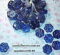 Декоративный стеклянный камень, Снежинка, фото 1