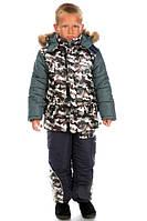 Детский зимний комбинезон с курткой для мальчика