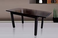 Стол обеденный КЛАССИК 140(+50) темный орех