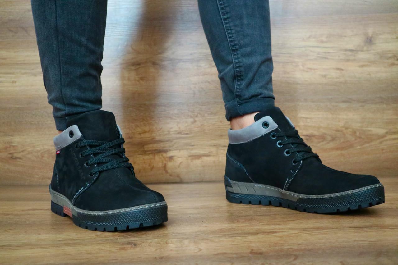 Мужские зимние ботинки Norman (черный), ТОП-реплика