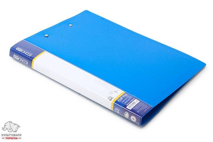 Папка с прижимом+клип Economix А4 Clip B+C Light пластиковая цвет ассорти Арт. E31209