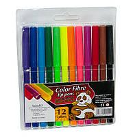 Фломастеры на водной основе Color Fibre 12 цветов