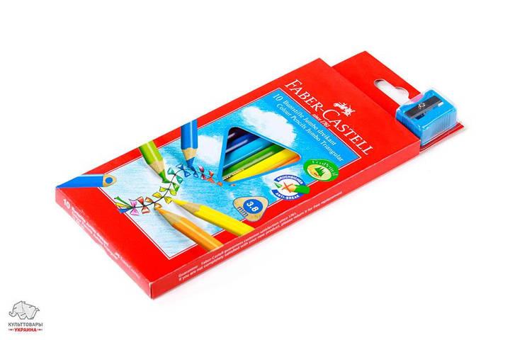 Карандаши цветные трехгранные Faber-Castell Jumbo 10 цветов Арт. 116510