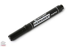 Маркер перманентный Centropen 8576 скошенный 1-5 мм черный  Арт. 01852