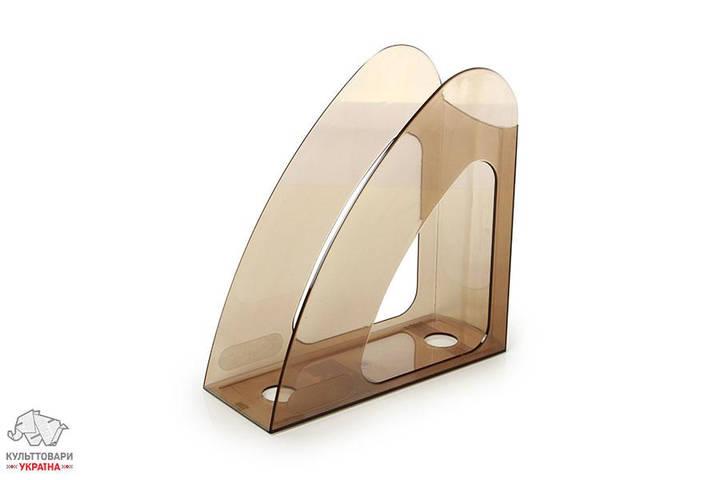Лоток для бумаг вертикальный Арника Радуга пластиковый дымчатый  Арт. 80611