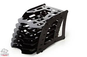 Лоток для бумаг Арника 6 в 1 сборной пластик черный Арт. 82449