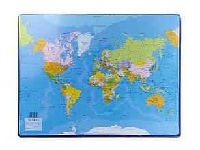 Подложка для письма Esselte Карта Мира 53х40 см Арт. 32184