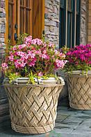 """Вазон для цветов бетонный для сада и террасы  """"Ротанг""""(бетонный)"""