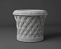 """Вазон декоративный из бетона для сада и террасы  """"Ротанг"""""""