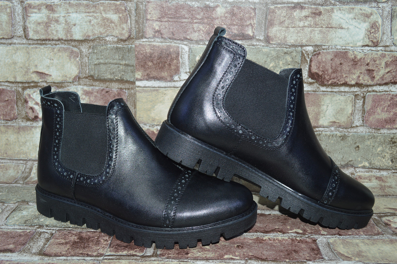 a9e00f209ca8 Мужские зимние классические ботинки с перфорацией Alta Brezza в натуральной  коже