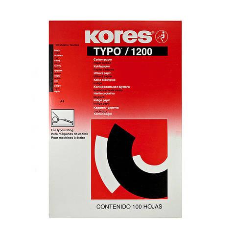 Бумага копировальная Kores 1200 А4 100 листов черная  Арт. К7528492