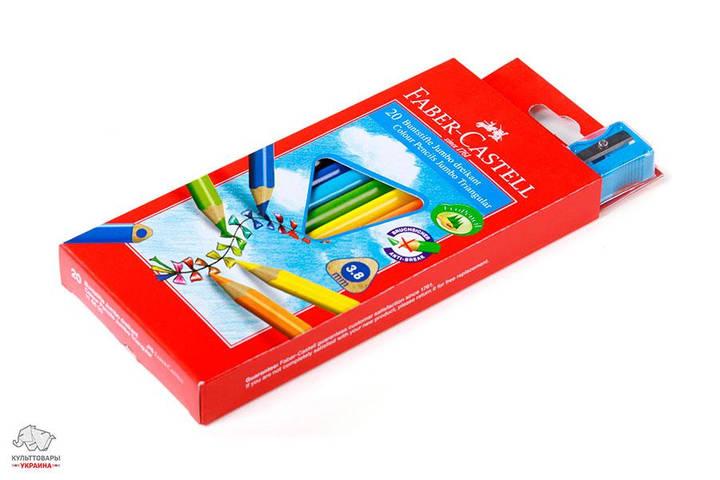 Карандаши цветные трехгранные Faber-Castell Jumbo 30 цветов Арт. 116520