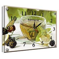 "Часы картина ""Чай с лимоном"" 25х35см kr43"