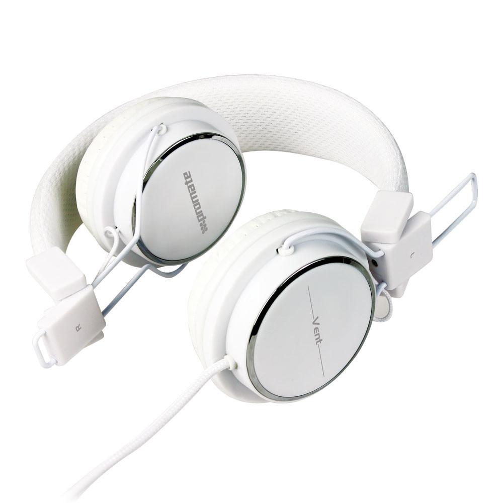Наушники с микрофоном Promate Vent White
