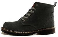 Мужские зимние ботинки Adidas Originals Boot Grey (Адидас) с мехом серые
