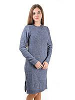 Теплое вязаное платье Irvik PL800ST темно серое, фото 1