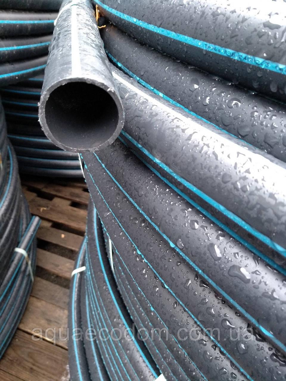 Труба полиэтиленовая  40 мм 6 атм черно синяя
