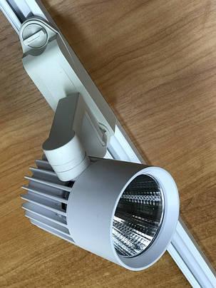 Светодиодный трековый светильник SL-4003 30W 6400К белый Код.58050, фото 2