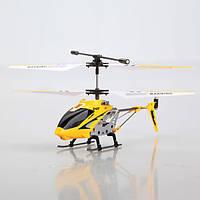 Вертолёт с 3-х канальным и/к управлением, светом и гироскопом (22 см) Syma (S107G) желтый