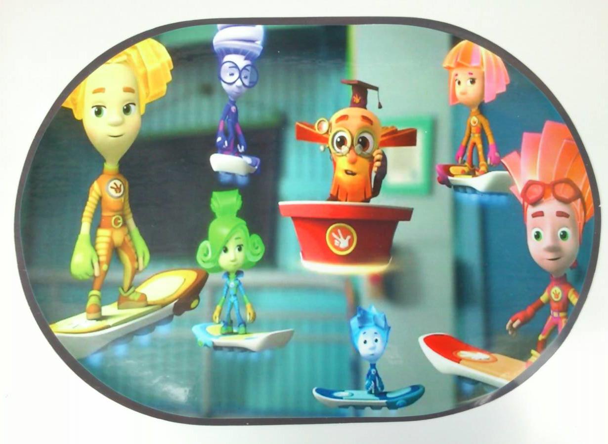 Моющаяся детская салфетка-подложка для защиты стола при лепке, рисовании, апликациях мультик, 28*40 см