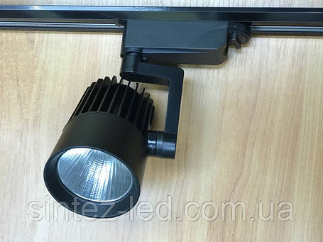Светодиодный трековый светильник SL-4003 30W 6400К черный Код.58052, фото 2